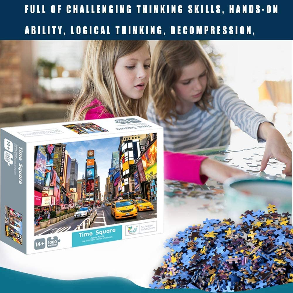 BUENAVO Jigsaw Puzzles for Kids /& Adult 1000 Piece Times Square Mini Jigsaw Puzzle