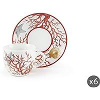 Excelsa Coral Servicio Tazas de café con plato