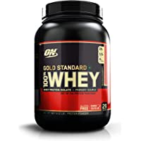 Optimum Nutrition (ON) Gold Standard 100% Whey Protein Powder - 2 lbs, 907 g (Delicious Strawberry)