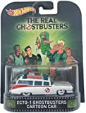 """Ecto-1 Ghostbusters Cartoon Car """"The Real Ghostbusters"""" Hot Wheels 2015 Retro Series 1/64 Die Cast Vehicle"""