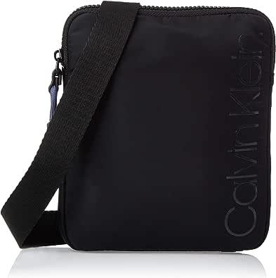 Calvin Klein - Trail Mini Flat Crossover, Organizadores de bolso Hombre, Negro (Black), 1x1x1 cm (W x H L)