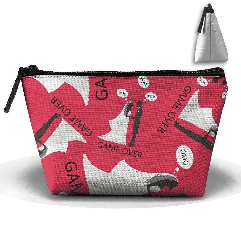 Wedding Game Over Make You Look Like Cool Cosmetic Bag Handbag/Wrist Bag/Clutch Bag/Cell Phone Bag/ Ladies Purse