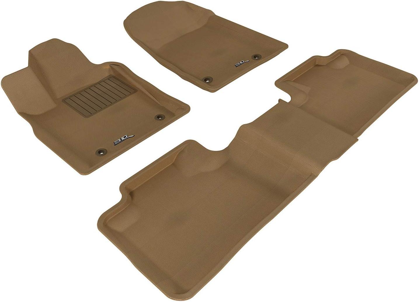 3D MAXpider Front Row Custom Fit Floor Mat for Select Jeep Grand Cherokee Models Classic Carpet Black