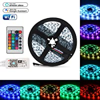 XCSOURCE WiFi RGBW Controller + LED Strip Light 5M SMD 5050 60LEDs/m + 24 Keys IR Remote Control for TV Backlighting Cabinet Lighting LD1355