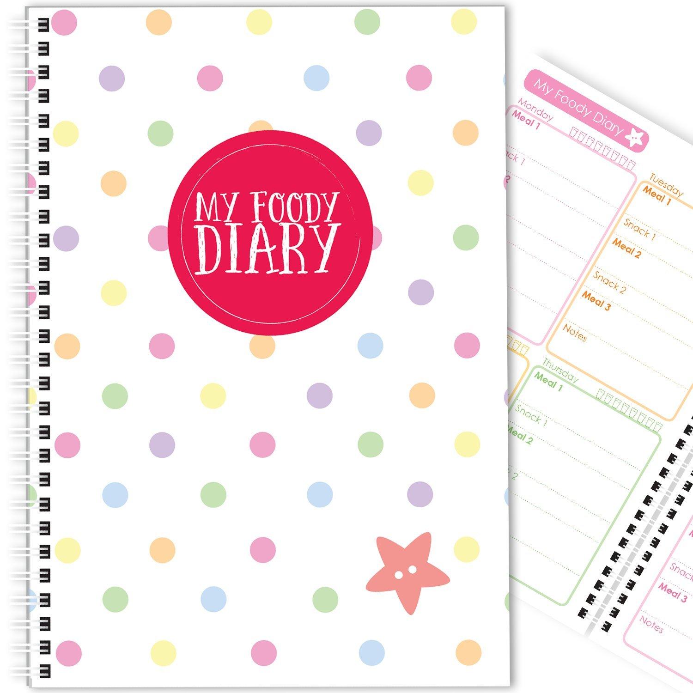 My Foody Diary: compatibile con The Body Coach (12 mesi) fatto a mano, diario alimentare, diario alimentare, tracker, A5 (Rainbow Dots) aabe creative