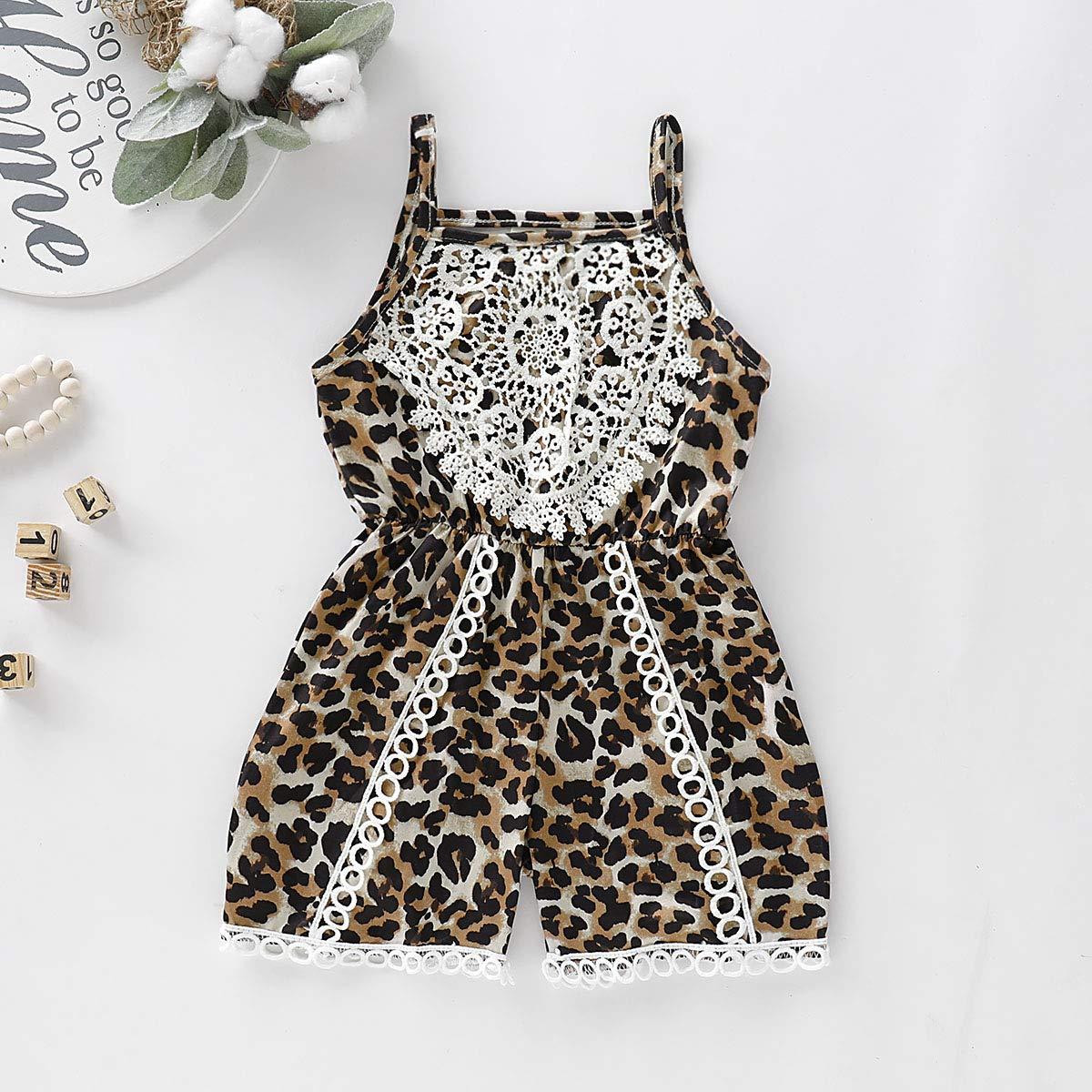 CM C/&M WODRO Newborn Baby Toddler Girls Sunflower Romper Strap Backless Bodysuit Jumpsuit Outfits Clothes Summer