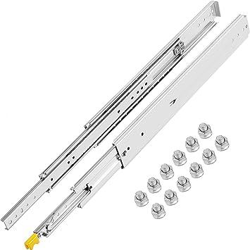 Details about  /Telescopic Drawer Slide Heavy Duty Steel Ball Bearing Drawer Runner Cabinet