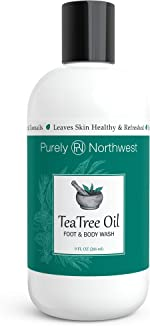 Antifungal Tea Tree Oil Body Wash, Helps Athletes Foot, Ringworm, Toenail