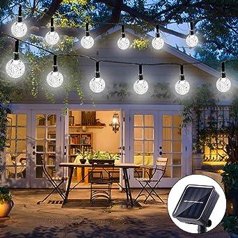 Weihnachtsbeleuchtung Kugel Aussen.Qedertek Solar Lichterkette Außen Mit 30 Led Kugel Weiß 6m 8 Modi Weihnachtsbeleuchtung Für Weihnachten Garten Terrasse Hof Haus Party
