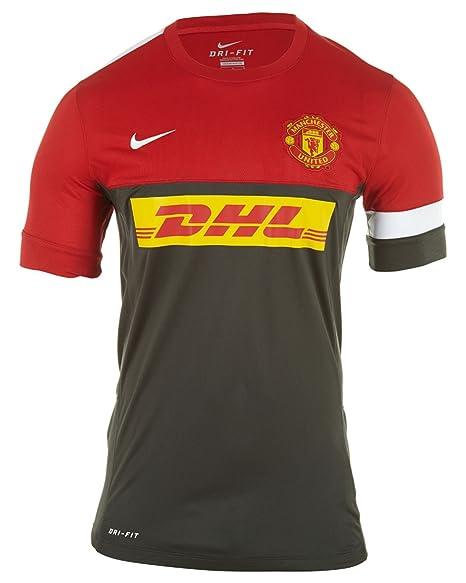pretty nice 2eb56 0c59a Amazon.com: Nike Manchester United Training Jersey Adult ...