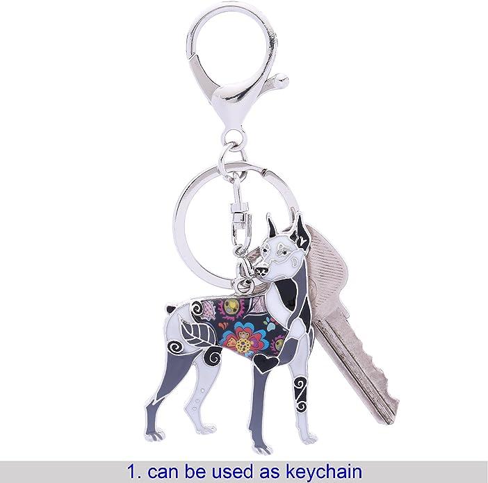Amazon.com: Luckeyui - Collar para mujer, diseño de Doberman ...