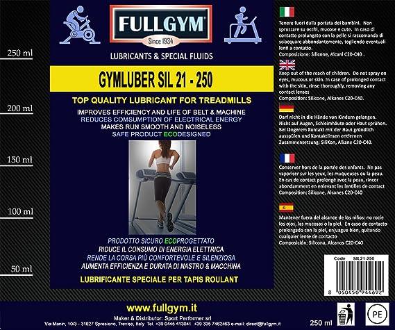 FullGym - Lubricante GymLuber Sil 21, 500 ml - Lubricante especial ...