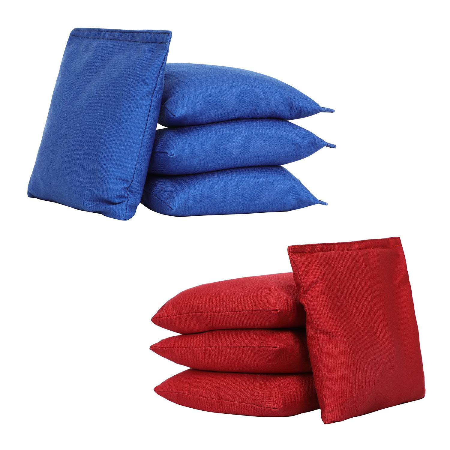 UKASE Regulation Cornhole Bag Bean Bags Pack of 8 for Tossing Core Hole Games Red and Navy Blue
