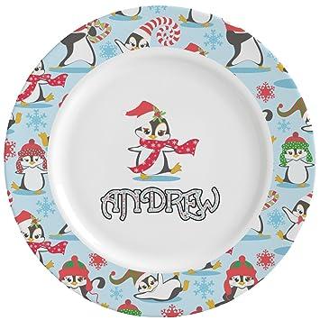 Christmas Penguins Ceramic Dinner Plates (Set of 4) (Personalized)  sc 1 st  Amazon.com & Amazon.com   Christmas Penguins Ceramic Dinner Plates (Set of 4 ...