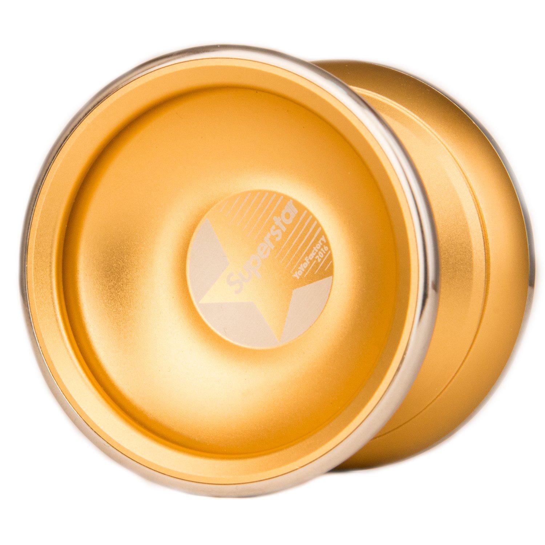 YoyoFactory Superstar Yo-Yo - Moderne Leistung YoYo, Aluminiumbau, Kugellager - Gold