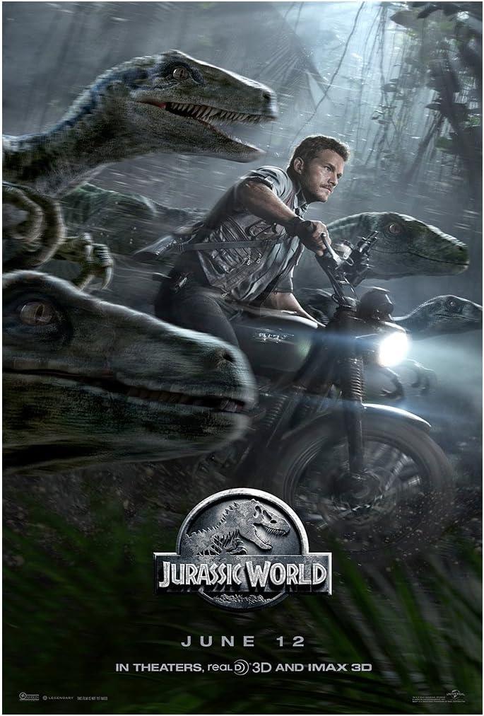 Jurassic World Movie Poster (Style D, Chris Pratt) - Size 24