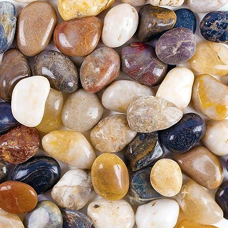 Jardín playa – roca de Río piedras decorativa de piedra, Piedras Naturales uso en cristal, casa jardín decoración Party Favors jarrón relleno, 2,2 lb: Amazon.es: Juguetes y juegos
