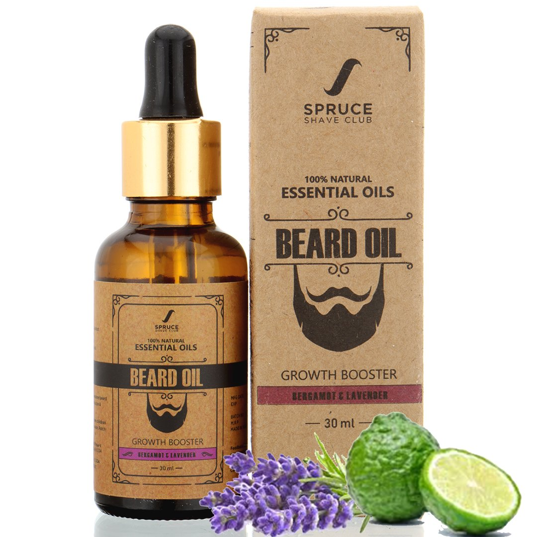 Spruce Shave Club Beard Growth Oil For Men - 100% Natural - Pure ...
