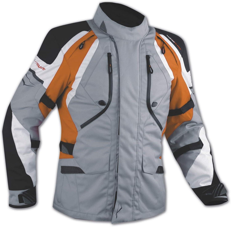 A-Pro Giacca Offroad Enduro Moto Turismo Impermeabile Tessuto Protezioni Arancione S
