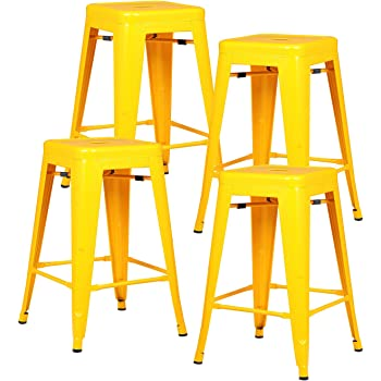 Amazon Com Tabouret 24 Inch Lemon Metal Counter Stools