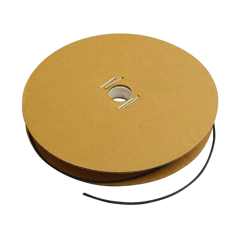 "100/' Feet BLACK 3//32/"" 2.4mm Polyolefin 2:1 Heat Shrink Tubing Tube Cable 100 FT"