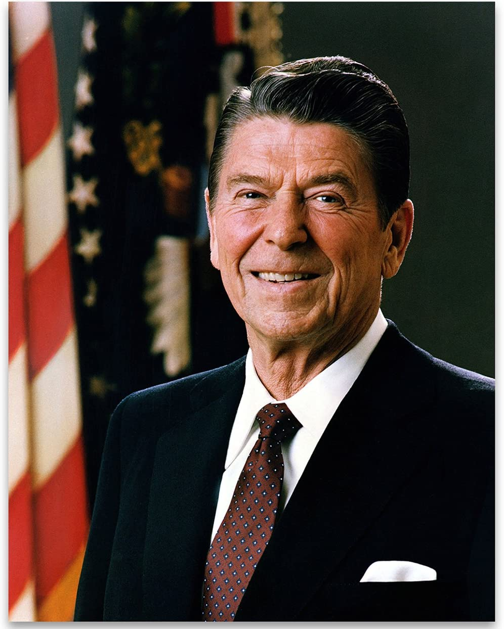 President Ronald Reagan Photograph - Official Portrait - 11x14 Unframed Art Print Picture - Great and Decor Under $15