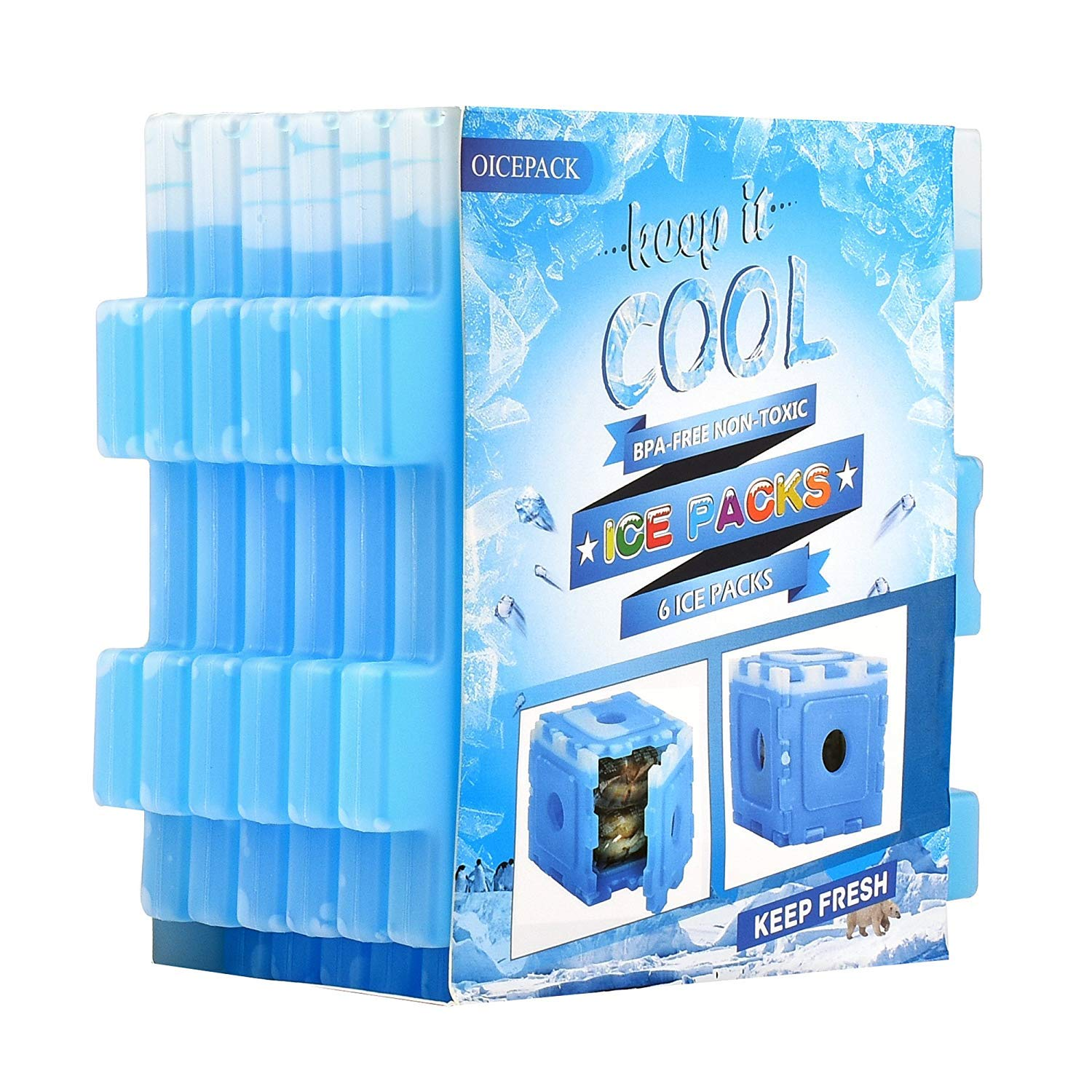 Ice Pack for Lunch Box - Set of 6 - Interesting Cool Cube for Lunch Bag and Lunch Cooler