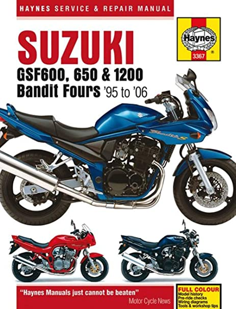 amazon com 01 05 suzuki gsf1200s haynes repair manual automotive rh amazon com 1999 suzuki bandit 1200 wiring diagram 1999 suzuki bandit 1200 wiring diagram