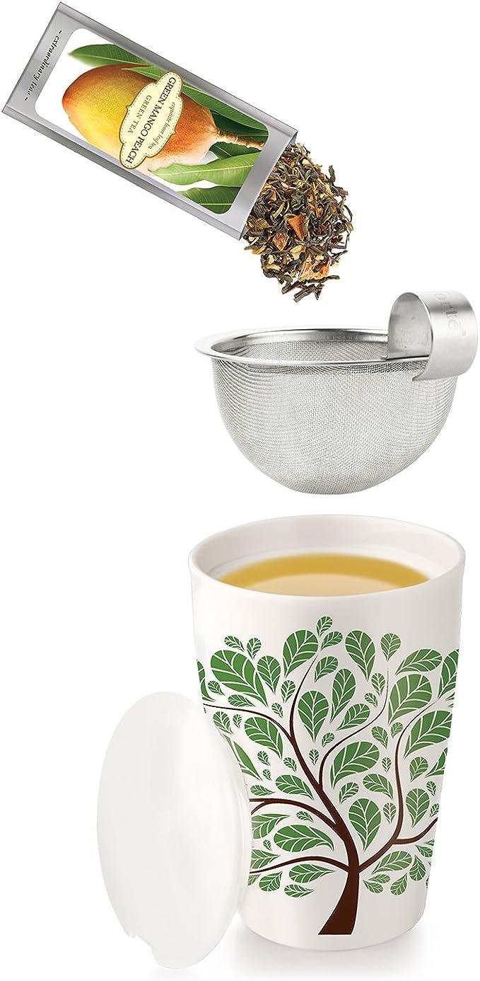 TEA Fortè KATI CUP FANTASIA ALBERO tazza te termica parete ceramica infusore