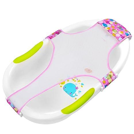 HBselect Hamaca Para Bañera Bebe Recién Nacido Soporte Asientos Para El Bañera Bebe Accesorios De Baño (rosa)