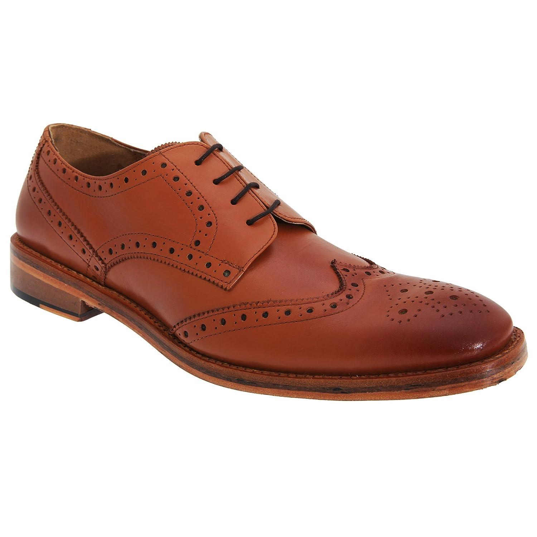 Kensington Classics - Zapatos Gibson Brogue puntera picado maria Todo piel hombre caballero 46 EU|Marrón Tostado