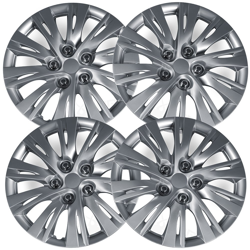 Oxgord Hubcaps For 12 14 Toyota Camry Pack Of 4 Wheel With Bbs Rims Covers 16 Inch Silver Replacement Automotive