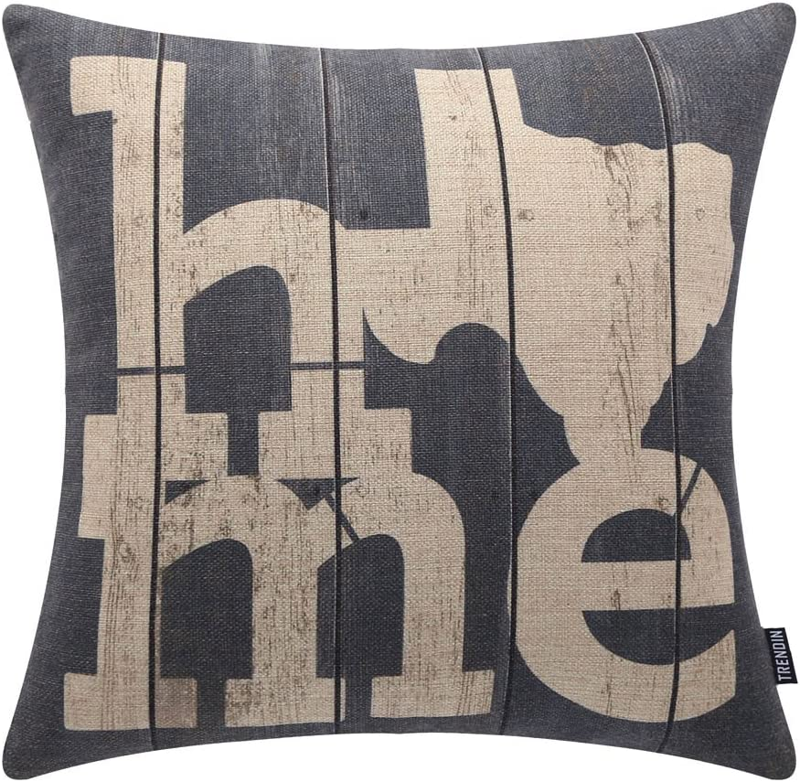 "TRENDIN 18"" X 18"" Vintage Farmhouse Home Linen Cushion Cover Sofa Throw Pillow Case PL146TR"