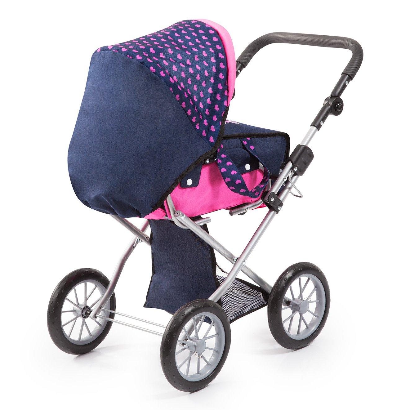 pour des poupées jusquà 46cm avec couffin amovible et sac à bandoulière bleu rose Bayer-Design landau combi réglable Bayer Design 13654AA Poussette Combi City Star 3 en 1 avec licorne moderne