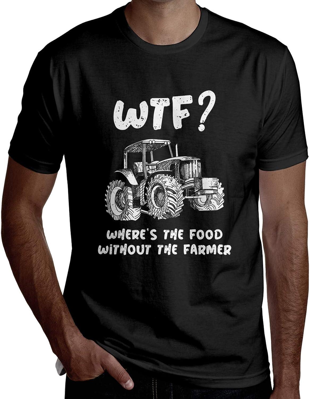 No Farms No Food Men T Shirt Classic Short Sleeve T-Shirt