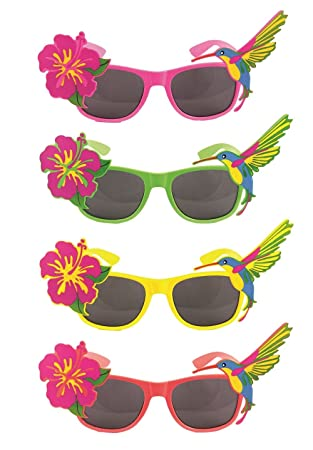 Fancy Dress Hawaiin Beach Party Tropical Coloured Sunglasses Accessory Yellow by Henbrandt pnwJyPczAI