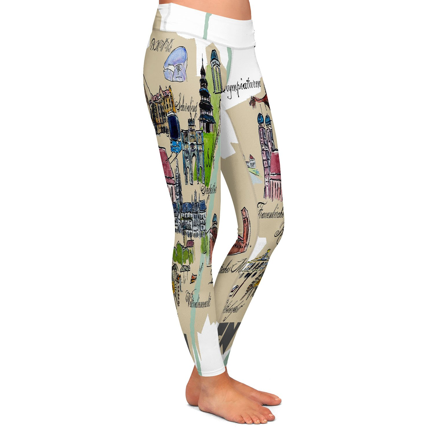 Athletic Yoga Leggings from DiaNoche Designs by Markus Bleichner Tourist Munich