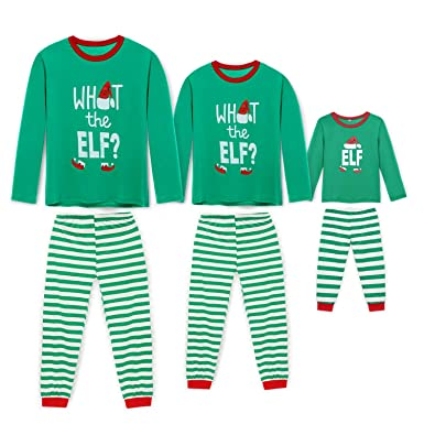 87dc96268ef6 Rnxrbb Holiday Christmas Pajamas Family Matching Pjs Set Xmas Jammies for  Couples and Kids Green Cotton