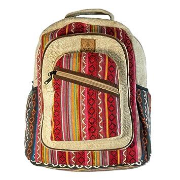4def9e11595f Amazon.com | Natural Large Hemp Backpack - - Handmade Eco-Friendly ...