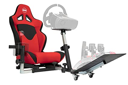 Openwheeler GEN2 Racing Wheel Stand Cockpit Red on Black | Compatible with Xbox One, Playstation, PC