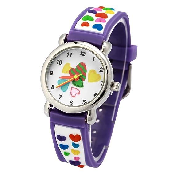 ... na Lovely Cartoon niños reloj Digital, Correa de silicona redondo relojes de pulsera de cuarzo para las niñas niños kids: Amazon.es: Juguetes y juegos
