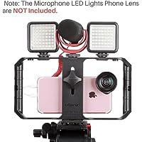 Ulanzi U Rig Pro Smartphone vidéo Rig, iPhone Filmmaking Coque, téléphone vidéo Stabilisateur Grip Support trépied pour Videomaker Cinéaste vidéo pour iPhone X 8Plus Samsung