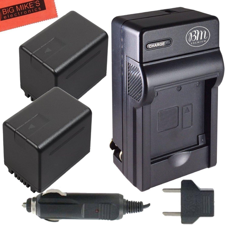 BM Premium 2 VW-VBT380 Batteries and Charger for Panasonic HC-V800K, HC-VX1K, HC-WXF1K, HCV380, HCV510, HCV520, HCV550, HCV710, HCV720, HCV750, HC-V770, HC-VX870, HC-VX981, HC-W580, HC-W850, HC-WXF991