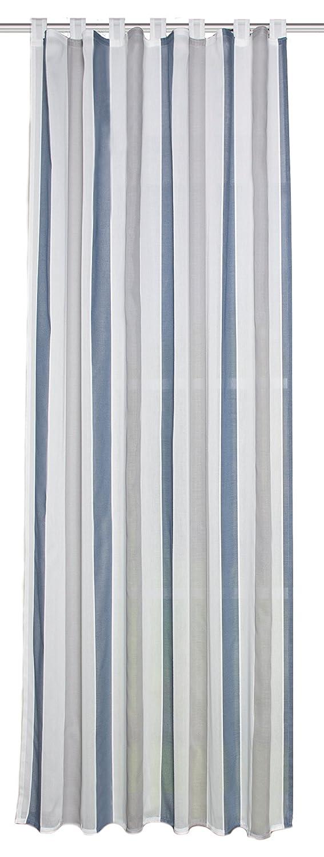 Home fashion Tenda ad Occhielli, Tessuto, Grigio/Blu, 245 x 140 cm 49254-522