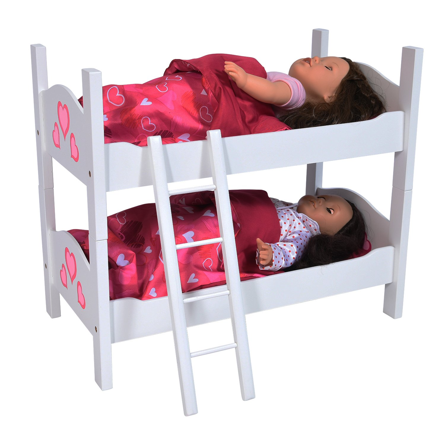 Bunk Bed Dolls: Doll Bunk Bed Kids Toys Toddler Girl Boy Pretend Play Fits