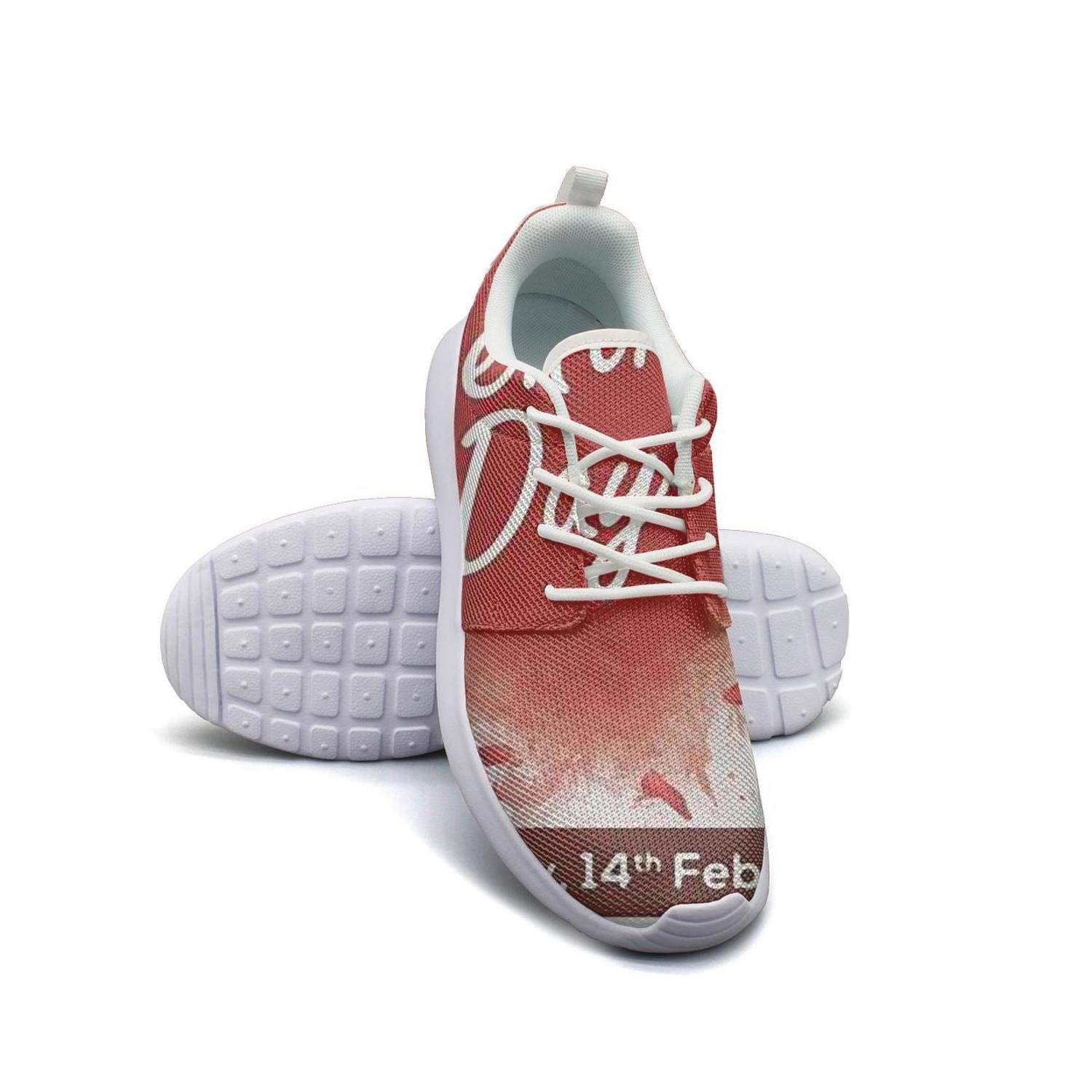 Happy Valentines Day Heart Poster Womans Canvas Casual Shoes Sneakers Breathable sportsshoes