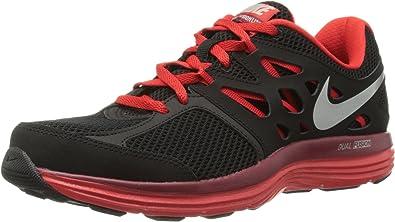 Nike Dual Fusion Lite - Zapatillas de running para hombre,color negro/rojo, talla 43: Amazon.es: Zapatos y complementos