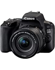 Canon EOS 200D Single Kit with EF-S 18-55mm f 4-5.6 is STM Digital Camera - SLR(200DKIS) 3Inch Display,Black