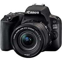 Canon EOS 200D Digital SLR Camera with EF-S 18-55 mm f/4-5.6 IS STM Lens