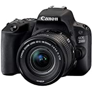 Canon EOS 200D 24.2MP Digital SLR Camera + EF-S 18-55 mm f4 is STM Lens, Free Camera Case and 16GB Card Inside